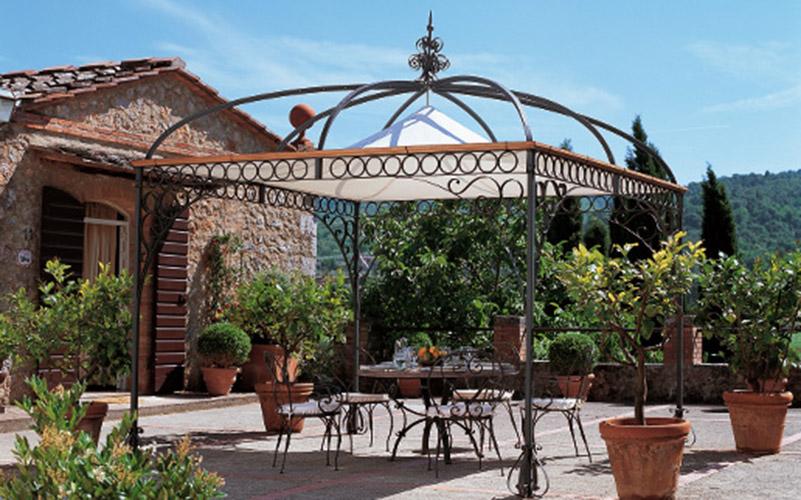 Gazebi in ferro battuto lightline - Gazebo da giardino in ferro ...